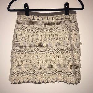 Lush Grey and Cream skirt
